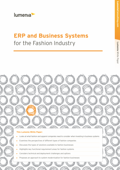 ERP and Business Systems for the Fashion Industry Cover