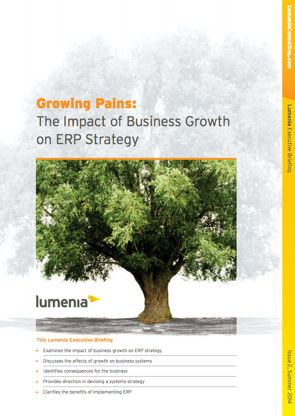 Growing Pains: The impact of business growth on ERP Strategy cover