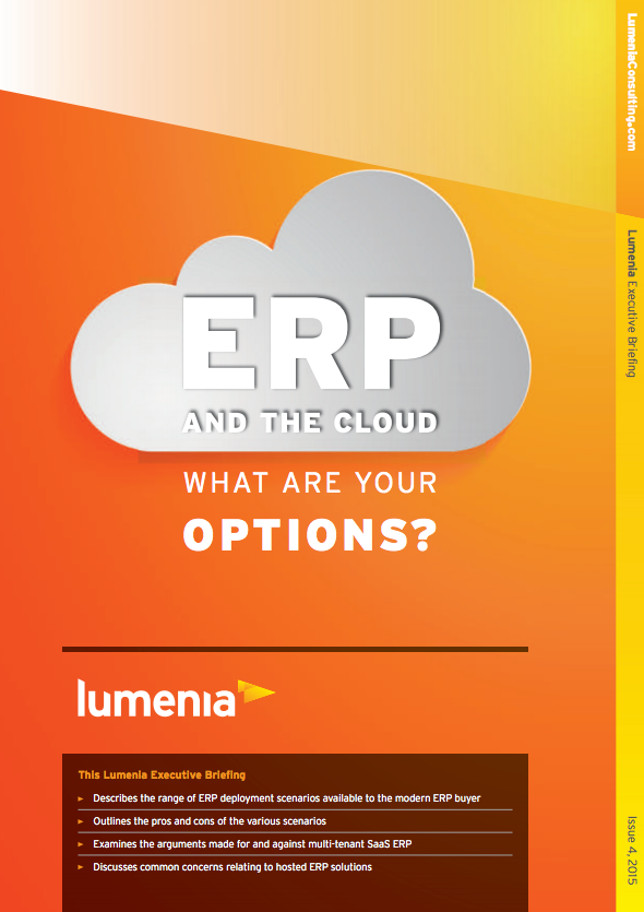 ERP and the Cloud: What are your Options? cover