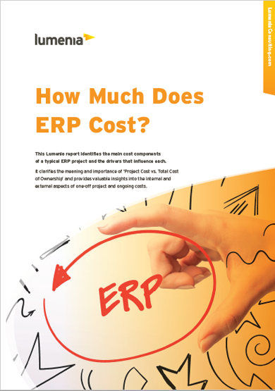 ERP Cost Report from Lumenia