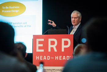 Sean Jackson presenting at ERP HEADtoHEAD event
