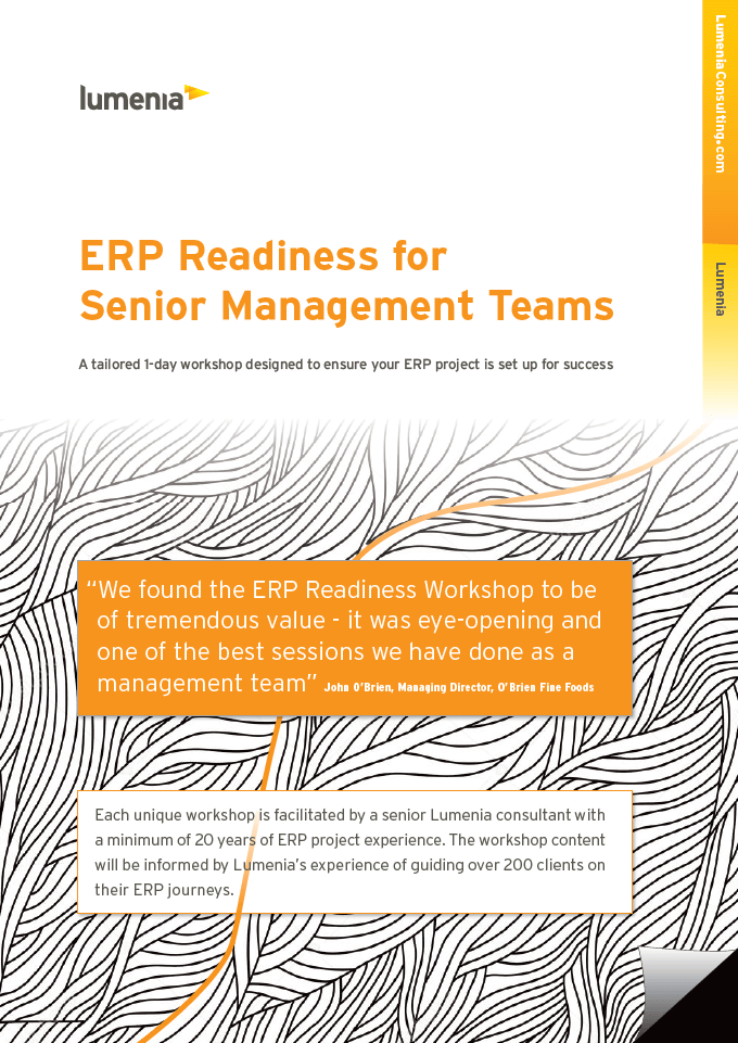 ERP Readiness; preparing for ERP